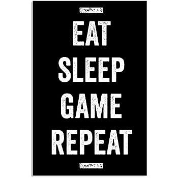 c2b58e5db5ae Amazon.com  Damdekoli Eat Sleep Game Repeat Poster