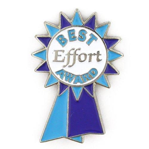 PinMart's Best Effort Award Blue Ribbon Enamel Lapel Pin