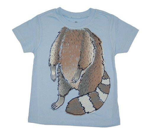 Peek A Zoo Toddler Become an Animal Short Sleeve T shirt - Raccoon Baby Blue (3T)]()