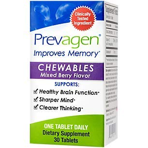 Prevagen Regular Chewables Mixed Berry 10mg 30 Count