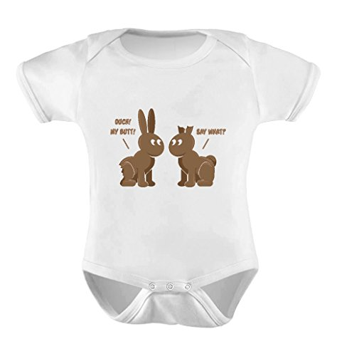 Tstars Easter Chocolate Bunnies Easter Gift Infant Funny Cute Baby Boy/Girl Bodysuit 12M ()