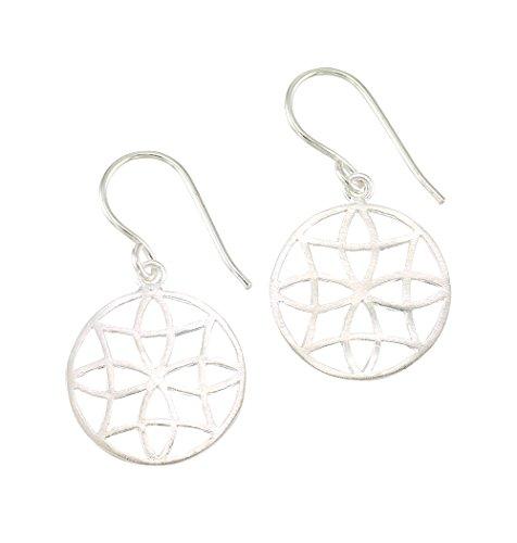Mela Artisans MAER217 Filigree Earrings, Silver 14kt Filigree Ring