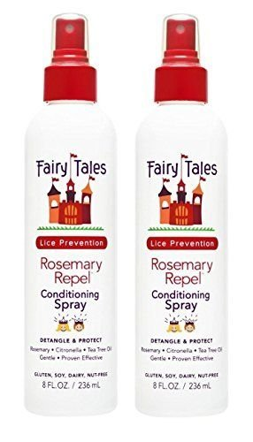 FAIRY TALES Rosemary Repel Lice Prevention Leave-In Conditioning Spray 8 oz, Pack of (Fairy Hair Brush)