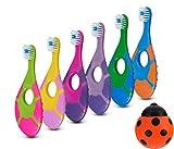 6 Pack - Baby Toothbrush, 0-2 Years, Soft Bristles, BPA Free   Toddler Toothbrush, Infant Toothbrush, Training Toothbrush, Includes Free Toothbrush Holder