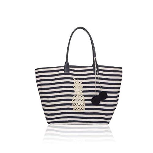 62206c793 Nuevo Ashiana - Bolso de tela para mujer Azul Stripy XL - www ...
