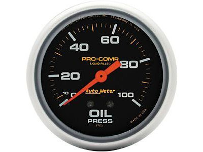 - AutoMeter 5421 Pro-Comp Liquid-Filled Mechanical Oil Pressure Gauge