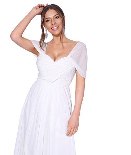 4815 Weiß Abendkleider Elegante Damen Bodenlange KRISP TwqI6Xw
