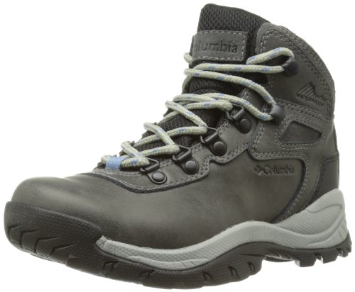 Columbia Women's Newton Ridge Plus Hiking Boot, Quarry/Cool Wave, 6.5 Regular US