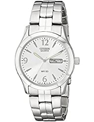 Citizen Mens Quartz Stainless Steel Watch with Day/Date, BK3830-51A