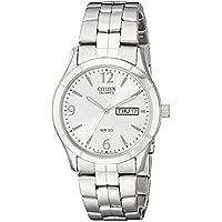 Citizen Men's Quartz Stainless Steel Watch with Day/Date, BK3830-51A
