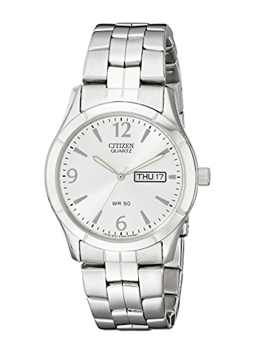 - Citizen Men's Quartz Stainless Steel Watch with Day/Date, BK3830-51A