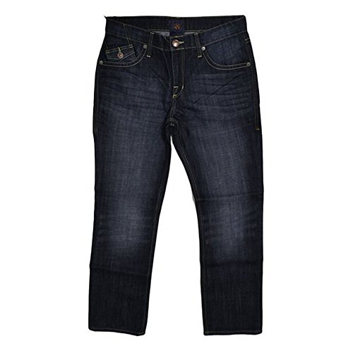 Regular Fit Straight Leg Swig Jeans (29W x 30L) (Rock Republic Men Jeans)