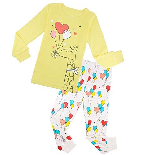 (Girls Pajamas Sets Kids Christmas Sleepwear Toddler Giraffe Clothes)