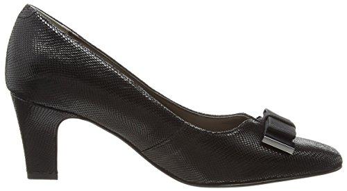 160 Cerrada Mujer Negro Van con Punta Dal Print para de Tacón Black Kett Zapatos Reptile vx60vRq