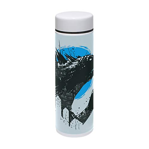 Jereee Godzilla Dinosaur Light Blue 7.5 oz Drink Flasks Travel Mug Sports Thermos Stainless Steel PU Leather Double Wall Vacuum Insulated Cup Christmas Birthday Gift for -