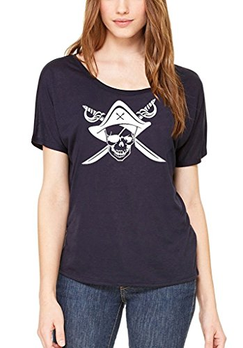 Moms Favorite Pirate Skull Hat Scimitar Slouchy T Shirt Jolly Roger Shirts