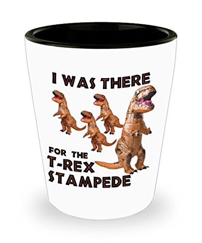 T-Rex Stampede Costume Man Cave Shot Glass Collectors Gift I Was There ()