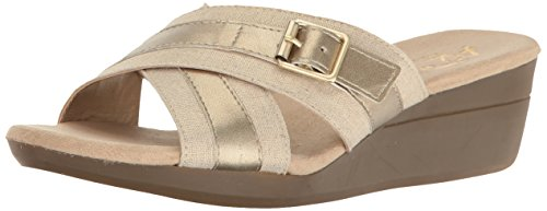 Aerosoles A2 Womens Florist Wedge Slide Sandal