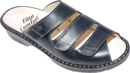 Finn Comfort Women's Tilburg Sandals,Black Nappa/Stretch,5 M UK