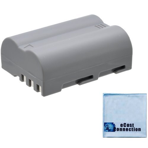 D700 D90 D70 /& more Cameras Lithium Ion and Microfiber Cloth EN-EL3E Battery for Nikon DSLR D300
