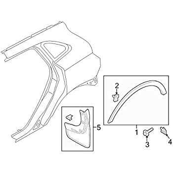 Amazon Com New 2014 Lincoln Mkc Front And Rear Molded Splash Guards