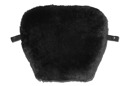 SKWOOSH Mid Size Fit Motorcycle Pad Seat Cushion with Genuine Natural Sheepskin Cover and patented Gel Insert