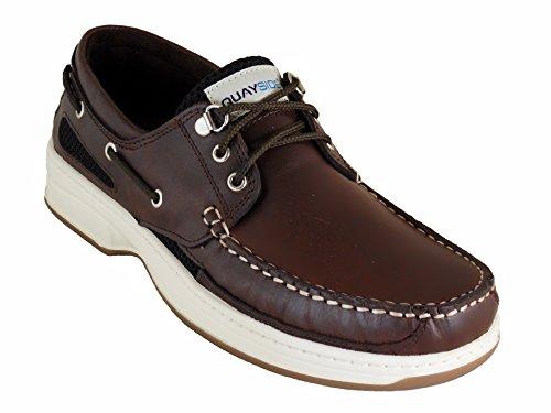 Quayside Sydney Hommes Portugais Chaussures Bateau en cuir marron