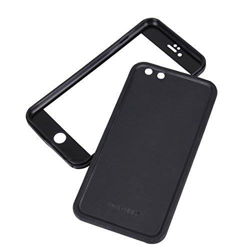 Tuff-Luv Ultra-dünn wasserdichtes Gehäuse Étui für Apple iPhone 6s - Schwarz