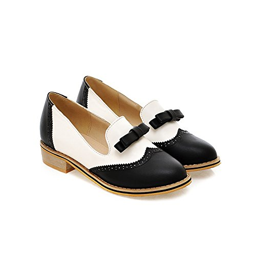 Spring Summer Fashion Vintage Brogue Women's Low Heel Sweet Bowknot Oxfords Shoes Candy Color