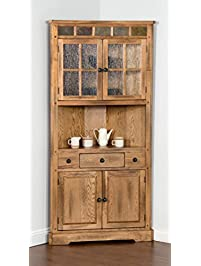 sunny designs sedona corner china cabinet