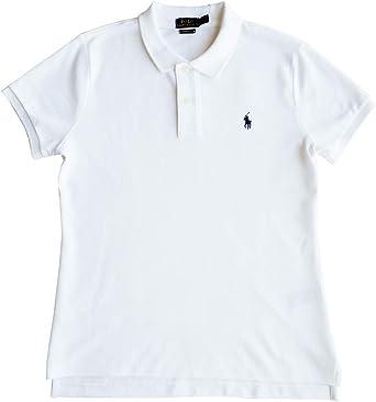 Polo Ralph Lauren Camisa de Polo Talla XL, Polo Flequillo, Blanco, Ajustado: Amazon.es: Ropa y accesorios