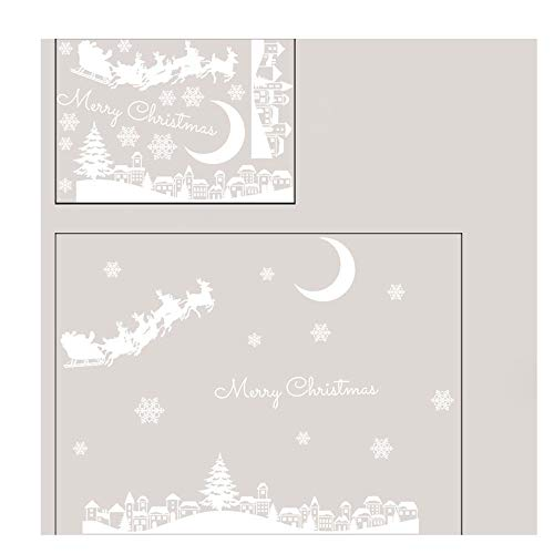 Exteren Christmas Restaurant Mall Decoration Snow Glass Window Removable Stickers Wall Sticker (Multicolor) from Exteren