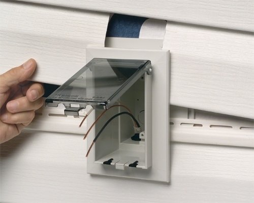 Arlington DBVS1W 1 Low Profile IN BOX Recessed Outlet Box Wall
