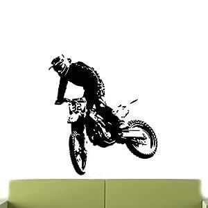 guijiumai Motocicleta Tatuajes de Pared Sala de Estar Decoración ...