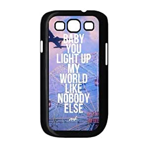 Samsung Galaxy S3 Case,Baby You Light Up My World Like Nobody Else Hard Shell Back Case for Black Samsung Galaxy S3 Okaycosama432135