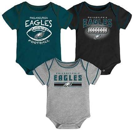 A-Team Apparel Philadelphia Eagles Infant//Toddler 3 Piece Creeper