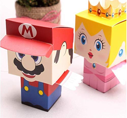 Astra Gourmet 36 pcs/set Cute Cartoon Super Mario Bros Princess Candy Boxes/Party Favor Boxes/Gift Boxes - Bride and Groom Wedding Favors Wedding gifts -
