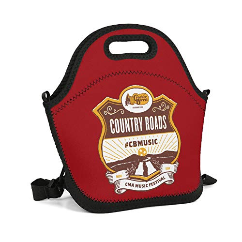 tpaaZ Cracker Barrel Country Roads Beautiful Lunch Box Waterproof Novelty Cooler Thermos