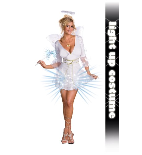 Angel Halloween Costumes Womens (Heavenly De-Light Sexy Angel Womens Costume Size Large)