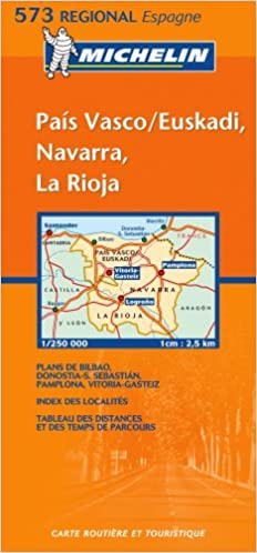 Michelin Map 573 Regional Spain Pais Vasco Navarra La Rioja