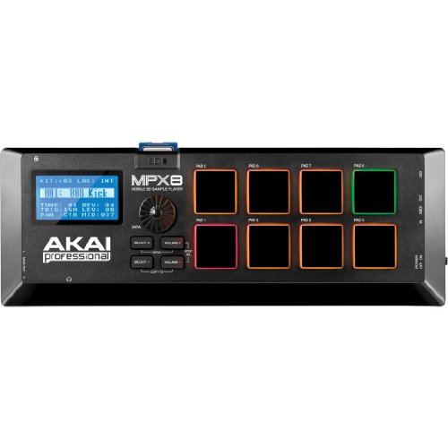 AKAI Professional MPX8 | Portable Sample Pad Controller With 8 Performance-Ready Pads & On-Board SD Card Slot ()