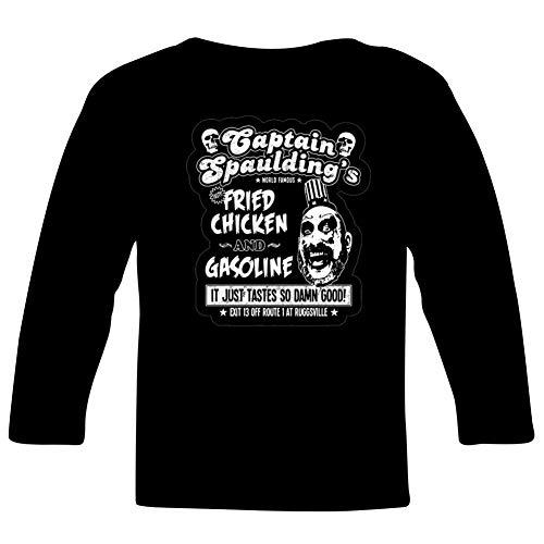 PHD BRU-NO aptain Spaulding Fried Chicken & Gasoline Long Sleeve T-Shirt for Kids Black L
