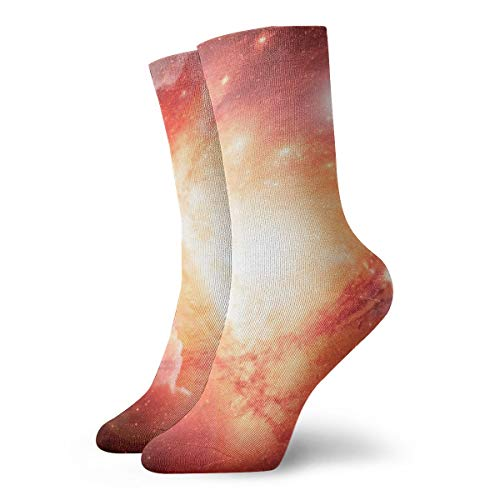 WEEDKEYCAT Red Galaxies Like Lava Adult Short Socks Cotton Funny Socks for Mens Womens Yoga Hiking Cycling Running Soccer Sports