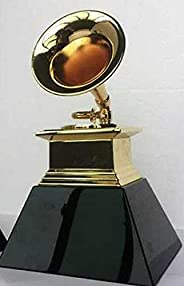 Grammy Trophy Awards by Free SF Express Ship with Black Wooden Base Metal Souvenir Gift Prize
