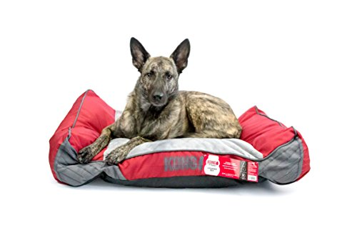 KONG Lounger Dog Bed - Red - Chew (Kong Pet Bed)