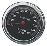 91-95 HARLEY FLSTC: Biker's Choice FL Type Speedometer With Domed Glass (120Mph Black Face)