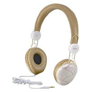 iHOME IB43WM Fashion Headphone, White and Gold