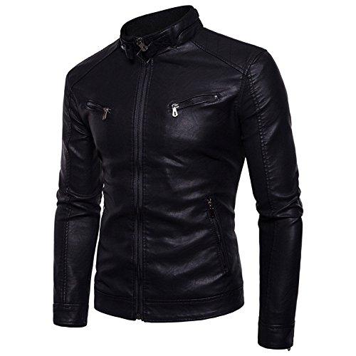 chaqueta de negro Hombres el polar chaqueta en ropa hombres Chaqueta M un motociclismo cerrojo hombre dPwxOPqtr
