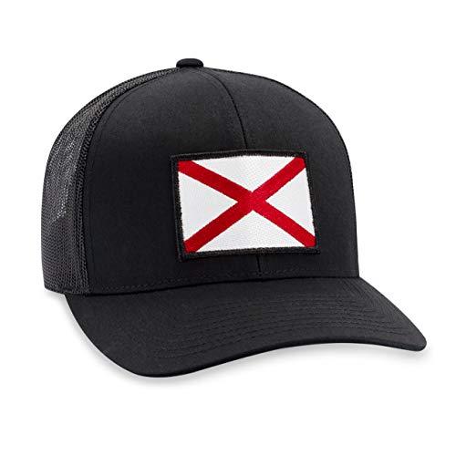 (Alabama Hat - Alabama Flag Trucker Hat Baseball Cap Snapback Golf Hat (Black))