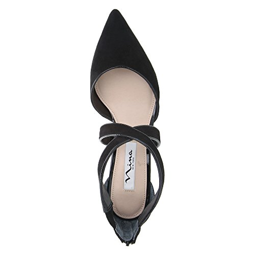 Dress Glam Women's Suede Tessie Black True Patent Pump Nina black 74EwZqx